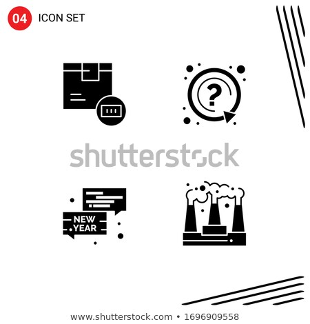 Vraag teken barcode vingerafdruk technologie print Stockfoto © fuzzbones0