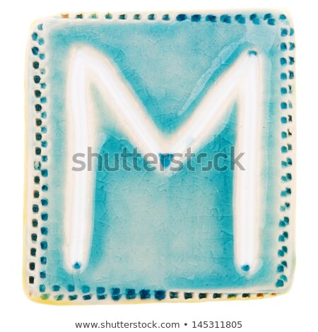 Handmade ceramic letter M  Stock photo © Taigi