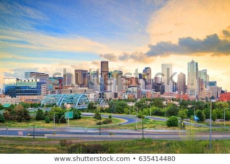 Колорадо США акварель искусства печать Skyline Сток-фото © chris2766