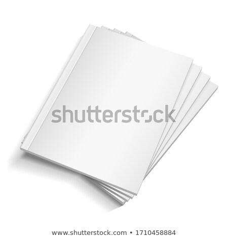 Vacío blanco libro oficina papel fondo Foto stock © timurock