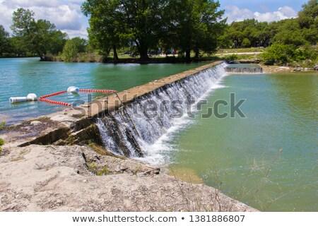 waterval · zon · klein · rock · rivier · beweging - stockfoto © traza
