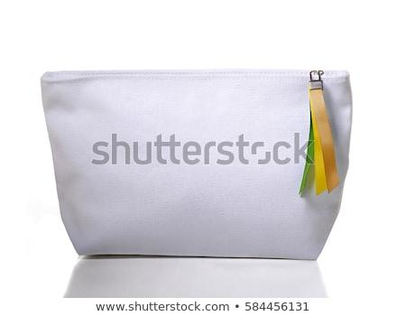 piros · pénztárca · fehér · retro · női · gyönyörű - stock fotó © tetkoren