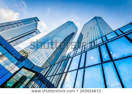 Externe futuriste immeuble de bureaux bâtiment construction design Photo stock © amok