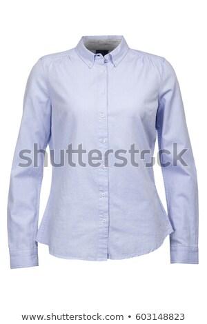 женщину синий блузка изолированный белый модель Сток-фото © Elnur