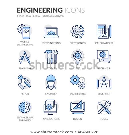Tech Support Blue Vector Icon Design Stock photo © rizwanali3d