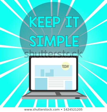 Keep It Simple Concept on Modern Laptop Screen. Stock photo © tashatuvango