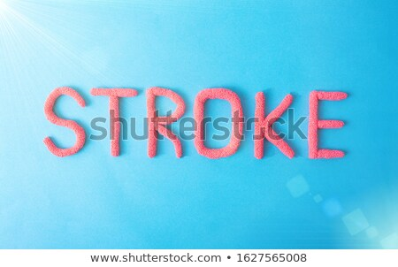 Diagnosis - Cerebrovascular insult. Medical Concept. Stock photo © tashatuvango
