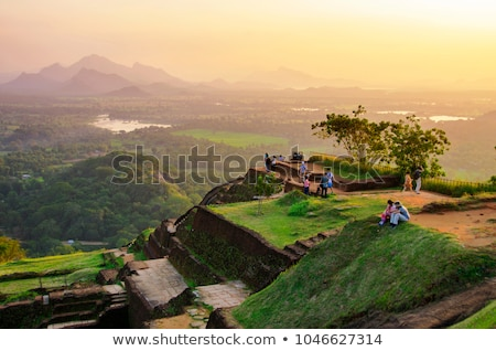 Ruines forteresse haut lion Rock Sri Lanka Photo stock © Mikko
