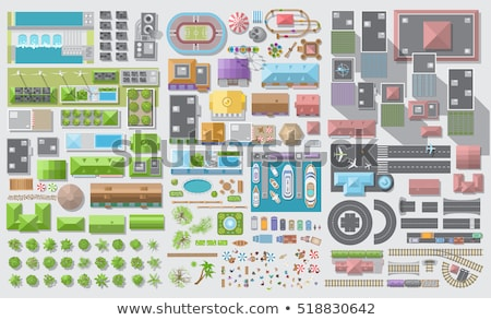 illustration of travel planning. Top view Stock photo © netkov1