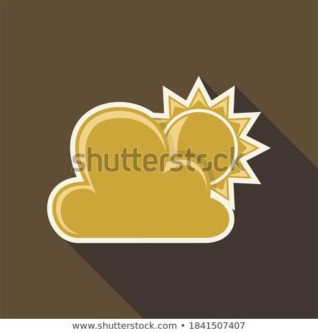 晴れた · 雲 · ベクトル · アイコン · デザイン - ストックフォト © rizwanali3d