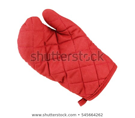 Green and red kitchen gloves Stock photo © ozaiachin