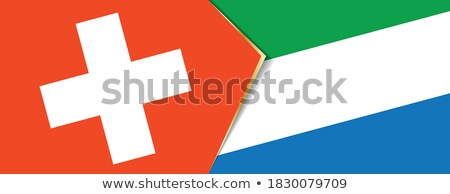 Stock photo: Switzerland and Sierra Leone Flags
