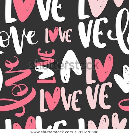 Textile letter love isolated on white Stock photo © tetkoren