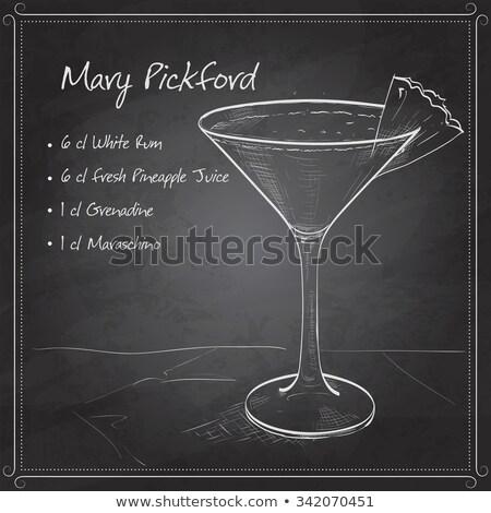 Сток-фото: Cocktail Mary Pickford On Black Board