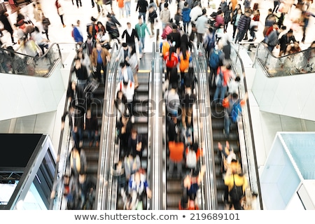 Escalator foule affaires ville affaires train Photo stock © Paha_L