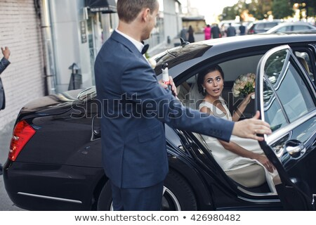 fiance and bride sit in the automobile Stock photo © Paha_L