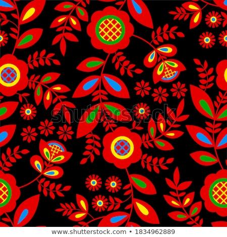 кукол · традиционный · русский · цветочный · шаблон - Сток-фото © fisher