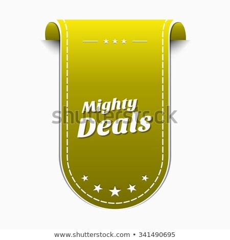 Mighty Deals Yellow Vector Icon Design Stock photo © rizwanali3d