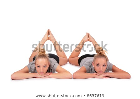 tweeling · sport · meisjes · tenen · vrouw · familie - stockfoto © paha_l