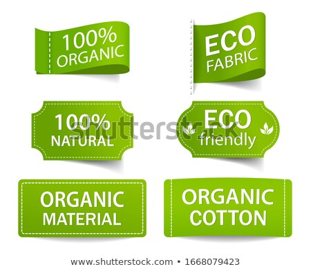 verde · establecer · eco · etiquetas · gradiente - foto stock © darkves