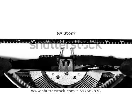 My Story Blue Marker Stock photo © ivelin