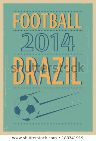Stok fotoğraf: Grunge Football Poster With Soccer Ball Eps 8
