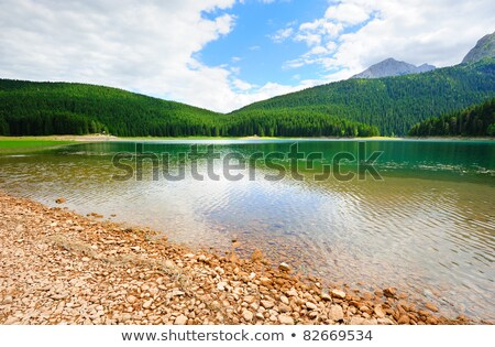 The picturesque Black Lake in the summer. Durmitor National Park Stock photo © vlad_star
