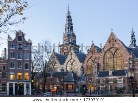 amsterdam old church stock photo © vichie81