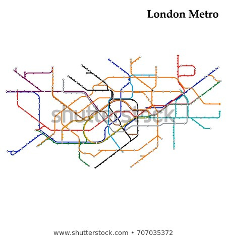 Tube map of London underground Stock photo © claudiodivizia