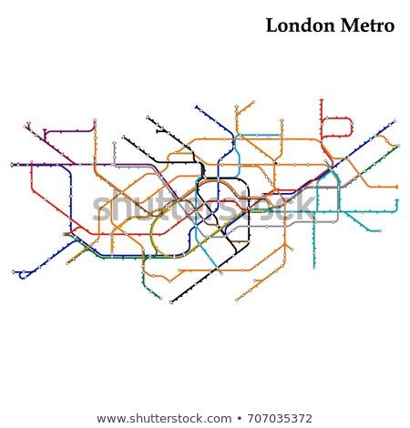 Londres · métro · esprit · écart · avertissement · signe - photo stock © claudiodivizia