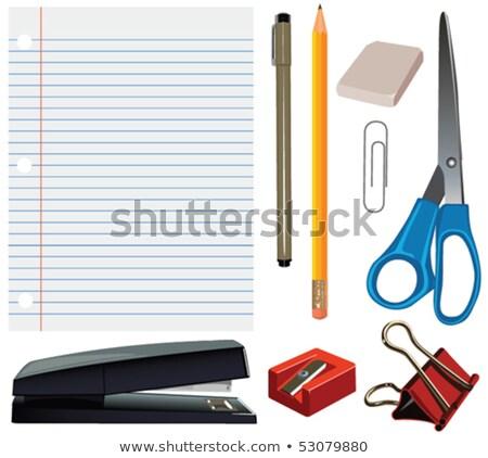 Przybory szkolne odizolowany eps 10 pusty zielone Zdjęcia stock © beholdereye