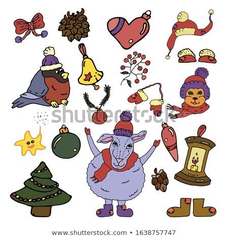 クリスマス 編まれた 装飾 キャンドル eps 10 ストックフォト © beholdereye