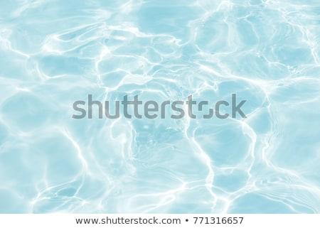 selymes · medence · víz · tükröződések · mély · kék - stock fotó © tuulijumala