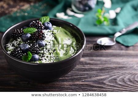 Ингредиенты · черный · таблице · шпинат · льстец - Сток-фото © marimorena