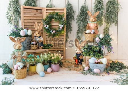 easter decoration with rabbit stock photo © -baks-