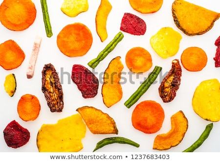 Dried fresh vegetable chips for a healthy snack Stock photo © ozgur