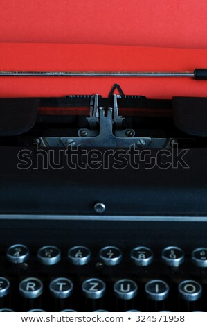 Vintage Typewritter With Red Paper Zdjęcia stock © stickasa