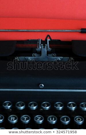 Bağbozumu kırmızı kâğıt portre arka plan iletişim Stok fotoğraf © stickasa