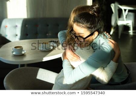 gyengédség · kettő · flörtölő · szerelmes · barátnők · ölel - stock fotó © deandrobot