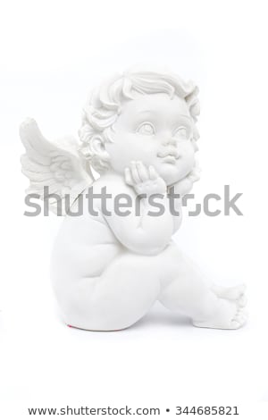 Figurines of angel on white background Stock photo © Julietphotography