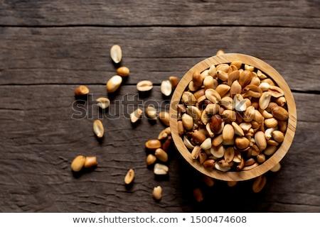 Vers gemengd gezouten noten kom pinda Stockfoto © michaklootwijk