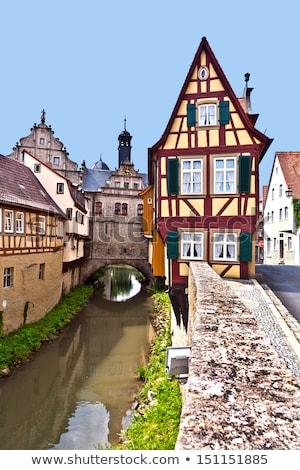 huizen · rivier · Duitsland · historisch · stad · zomer - stockfoto © meinzahn