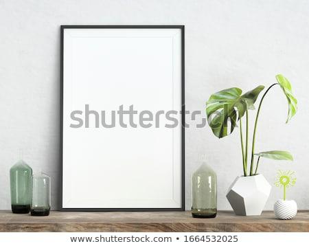 Foto stock: Quadros · flores · ilustração · quadro · arte