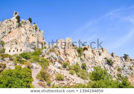 Kasteel berg Cyprus muur Stockfoto © Kirill_M