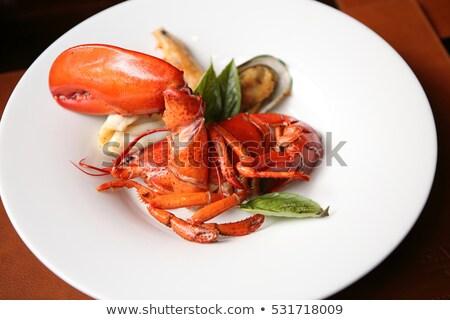 Grelhado lagosta restaurante limão concha animal Foto stock © vichie81
