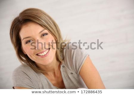 Portré csinos nő padló fiatal báj gyönyörű nő Stock fotó © Aikon