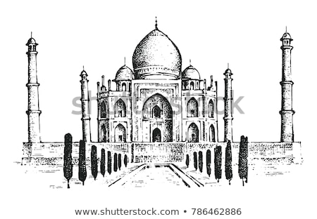 illustration · isolé · Taj · Mahal · Inde · résumé · art - photo stock © rastudio