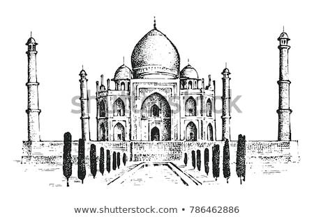 Taj Mahal rajz ikon vektor izolált kézzel rajzolt Stock fotó © RAStudio