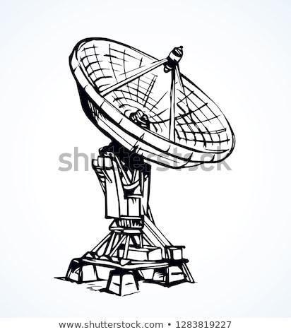 radar · esboço · ícone · vetor · isolado - foto stock © RAStudio