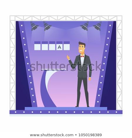 Puzzle szó nyertes kirakó darabok kéz építkezés Stock fotó © fuzzbones0